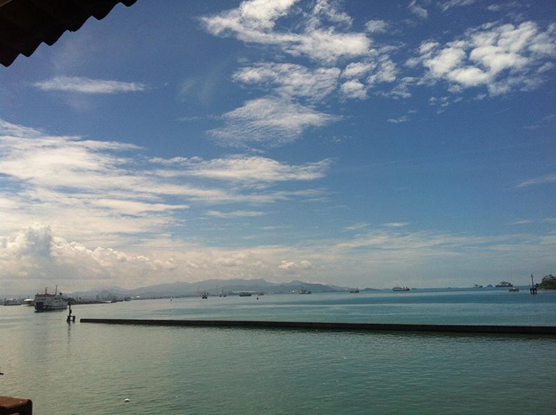 Pemandangan dari pelabuhan merak